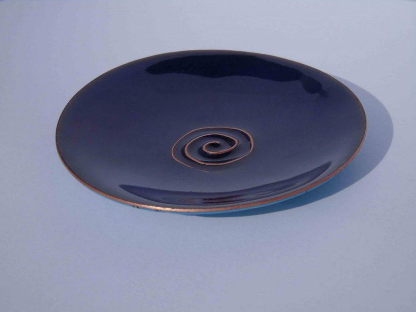 blue enamelled bowl