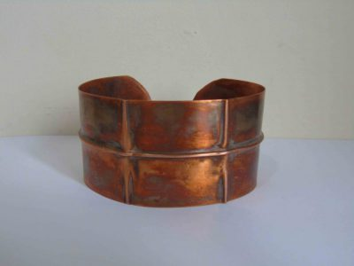 fold formed cuff bracelet from the front