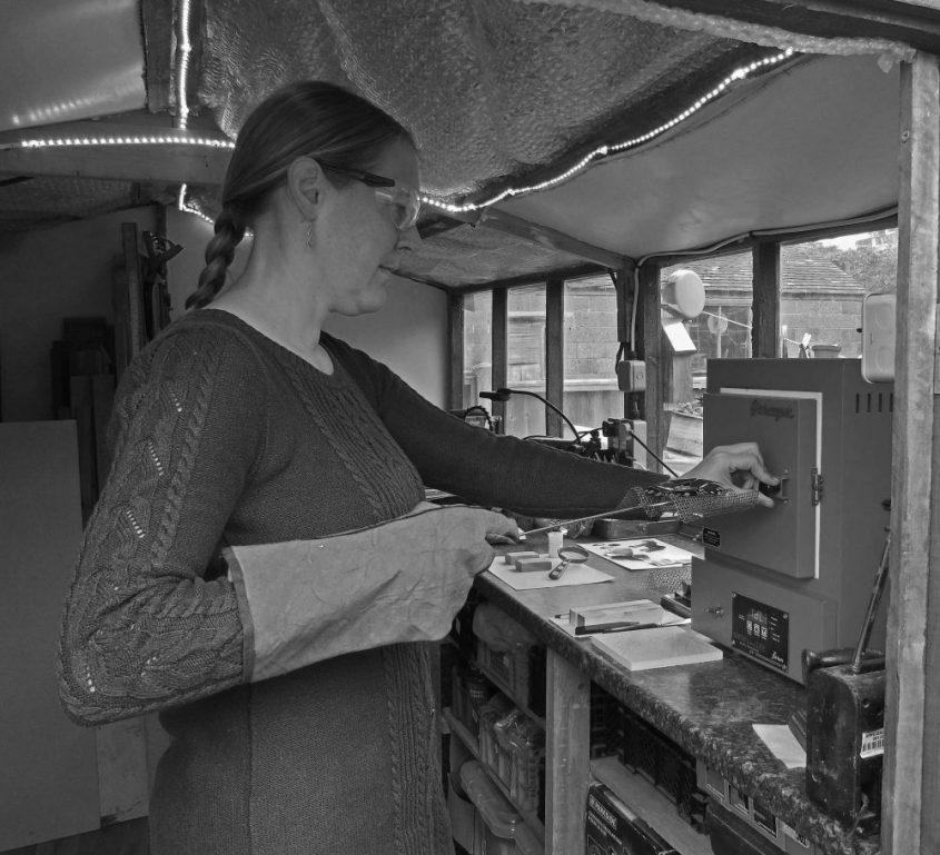 Eleanor Rogerson working in studio