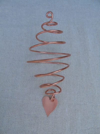 copper spiral garden decoration