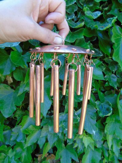 copper windchime
