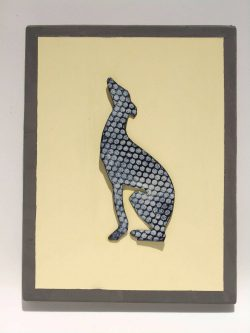 enamelled greyhound wall hanging