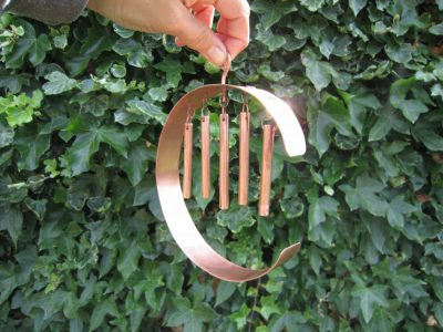 c shaped copper quiet windchime