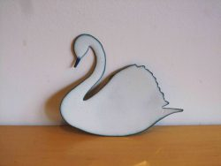 white swan wall hanging