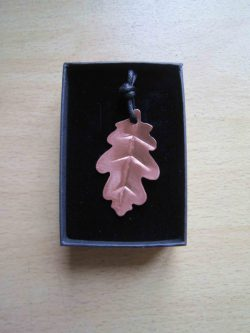 oak leaf copper necklace