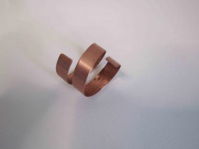 Chunky spiral copper ring