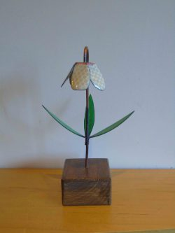 fritillaria enamelled copper flower front