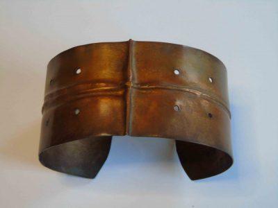fold cuff bracelet showing pattern