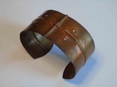 fold formed cuff bracelet showing shape of bracelet