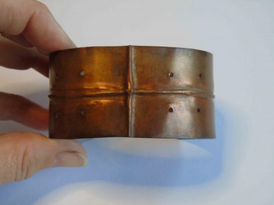fold formed cuff bracelet showing front