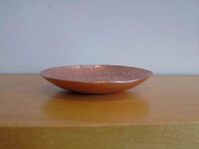 copper round bowl side-on