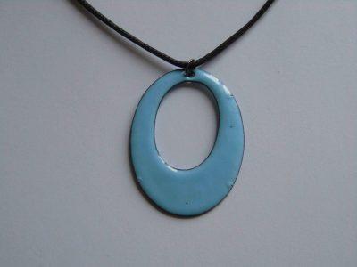Back of enamelled necklace