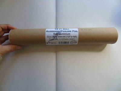 Aluminium foil half roll in its tube