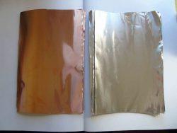 Copper and aluminium foil pieces, 30x20cm