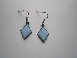 Very pale lilac blue earrings