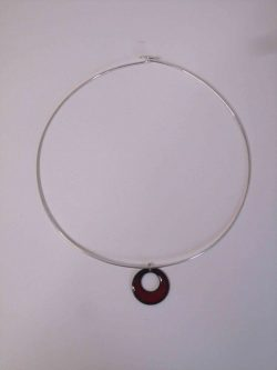 red circle on choker necklace